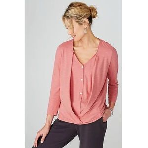 PURE By J Jill Cotton Cross Front Top